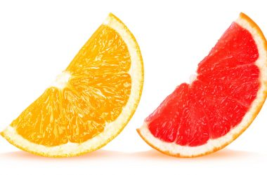 Żółty i czerwony grapefruit