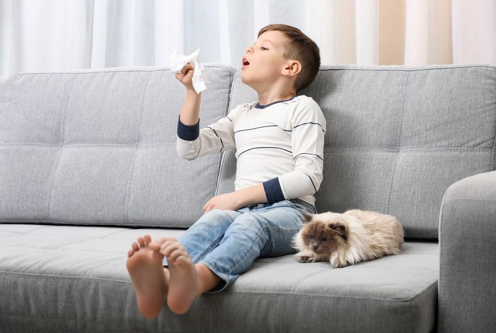 Kichające dziecko z alergią