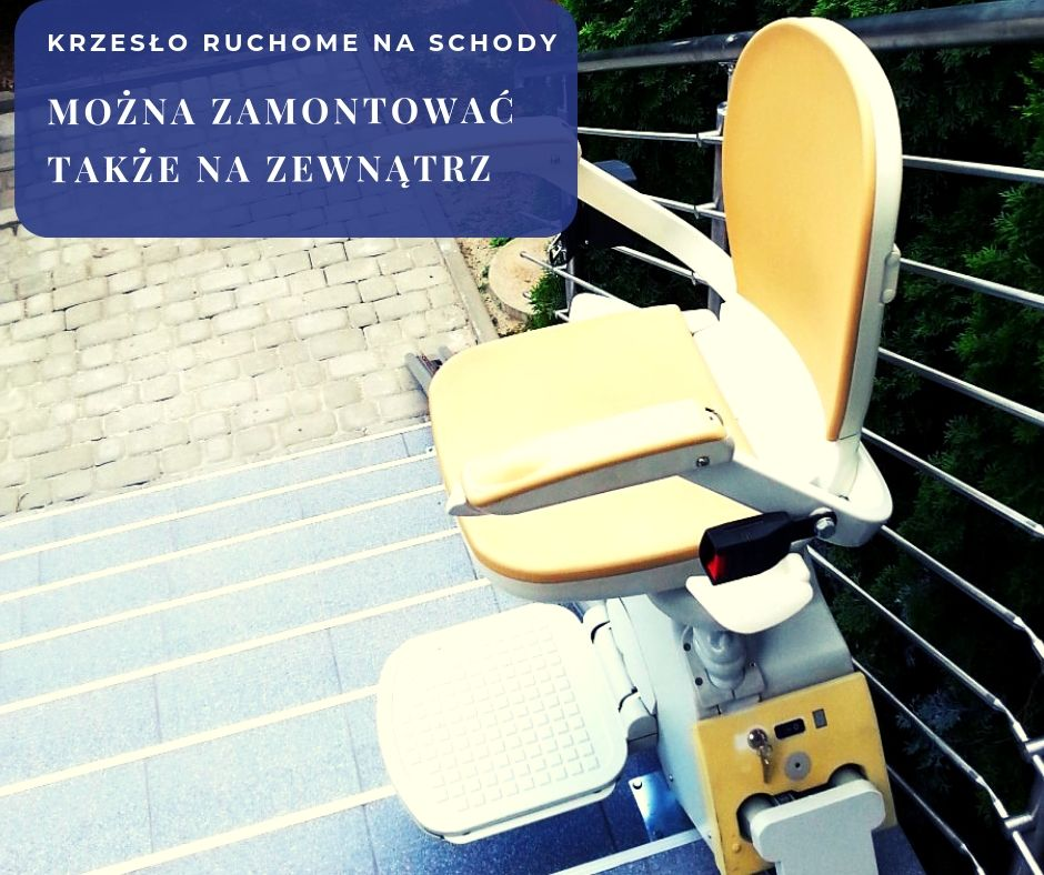 Krzesło do transportu chorych po schodach na zewnątrz