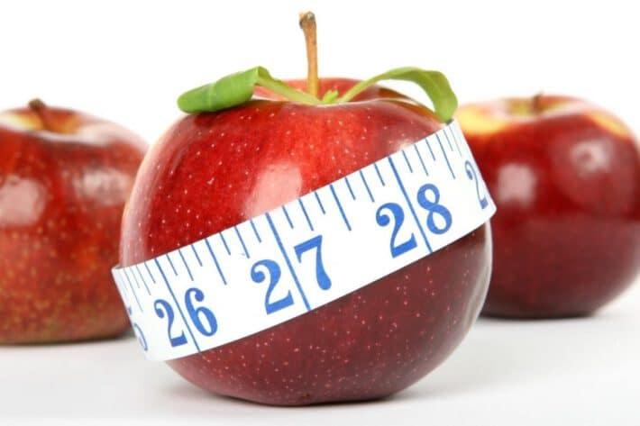 jabłko, metr krawiecki, dieta