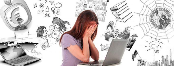 Kobieta z problemami która potrzebuje psychologa