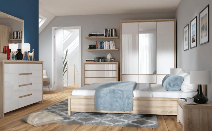 Zadbany materac w sypialni