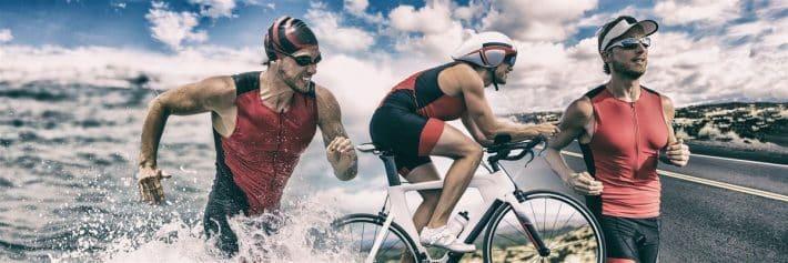 Mężczyźni uprawiają sport wspomagając się suplementami diety