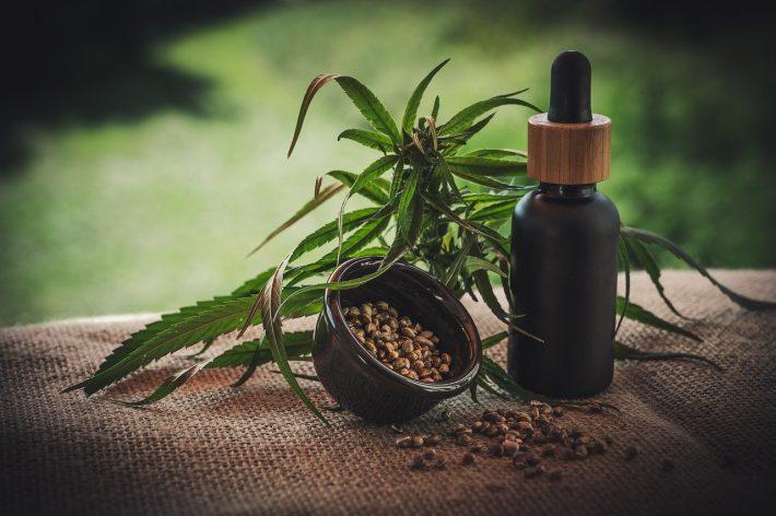 Olejek z marihuany w dozowniku