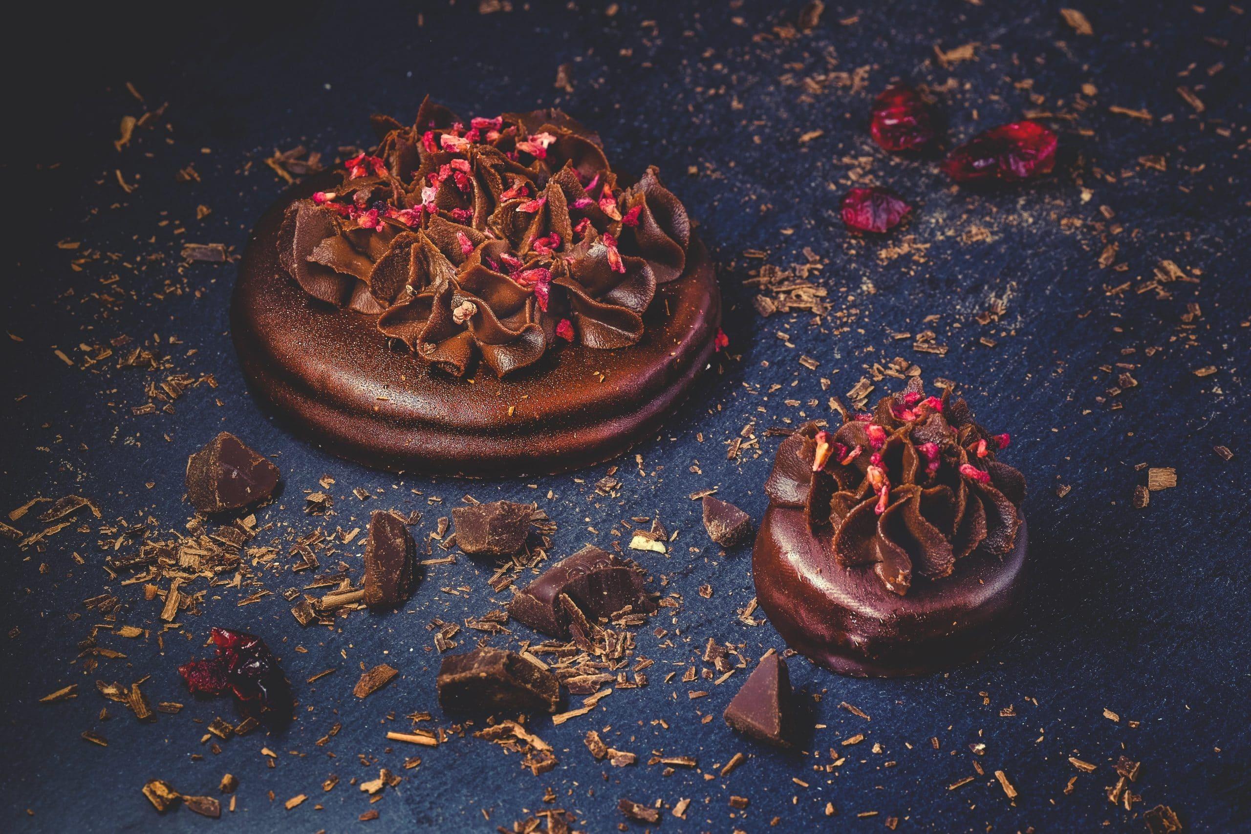 Ciastka czekoladowe z żurawiną i orzechami – przepis