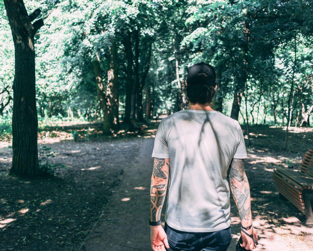Tatuaż na rękach męski