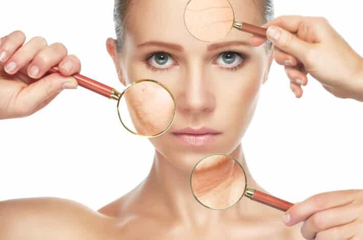 Kobieta po laserowej regeneracji skóry
