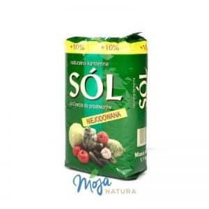 zielone opakowanie soli z kłodowy