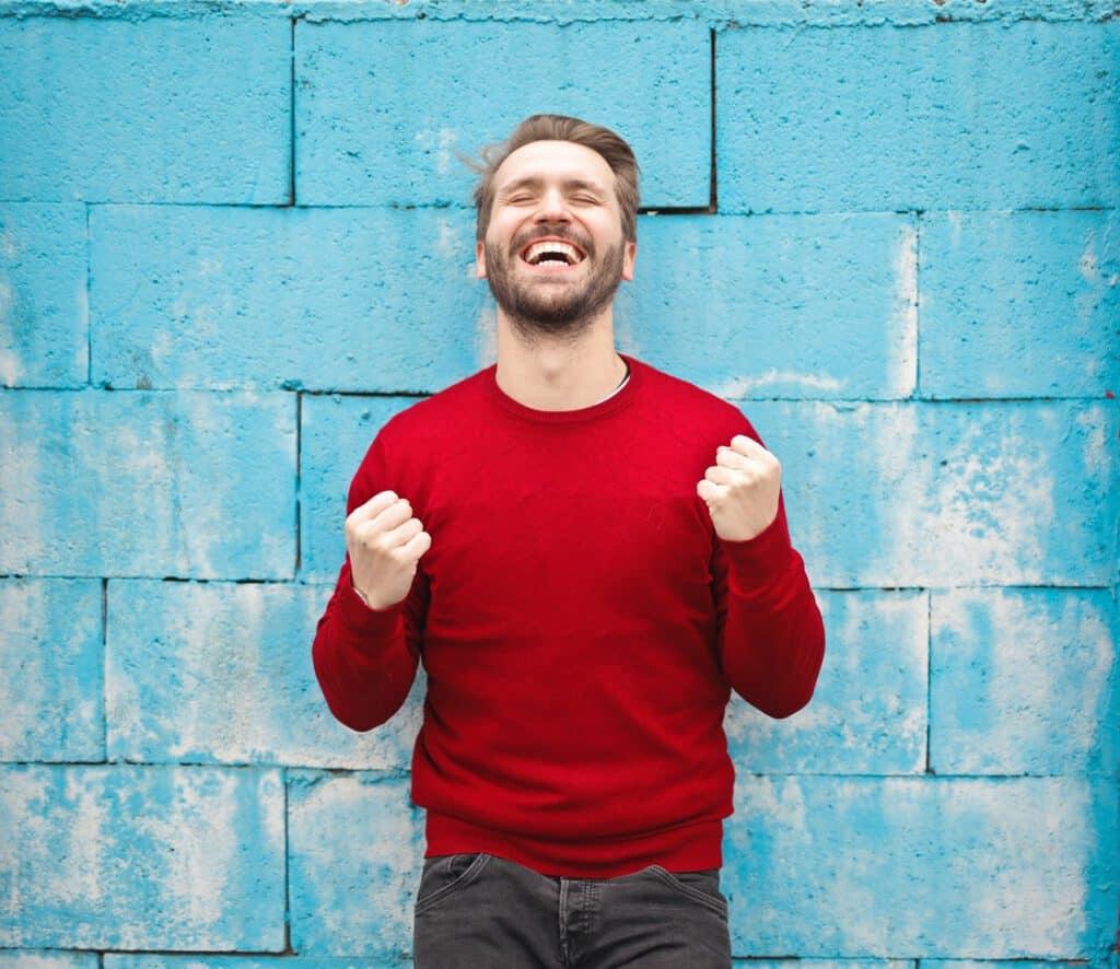 Mężczyzna po 30stce preferujący zdrowy styl życia