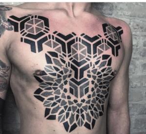 tatuaż geometryczny męski