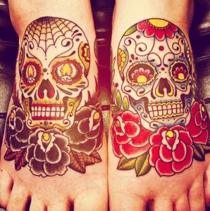 Tatuaże czaszki na ciele