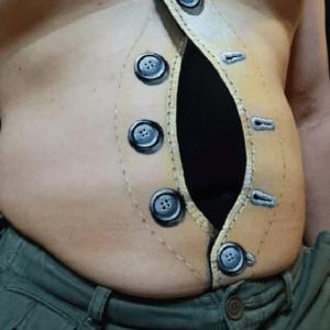 Tatuaż 3D na brzuchu
