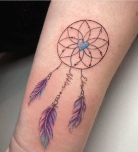 Łapacz snów- tatuaz o inspirującym znaczeniu
