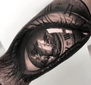 3D tatuaż oko