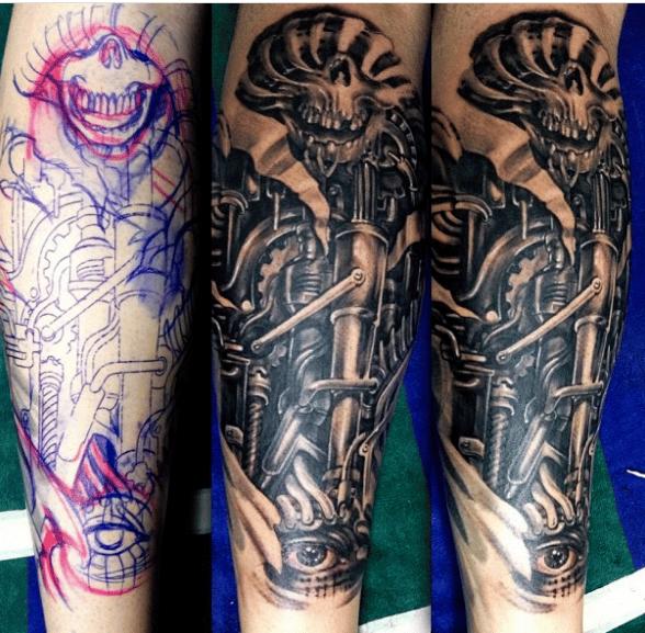 Wzory tatuaży biomechanicznych