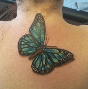 Realistyczny tatuaż 3D motyl