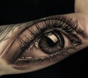 Tatuaż oko w 3D
