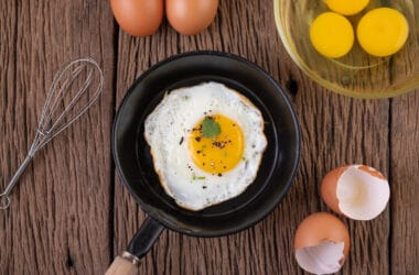 Jajko na patelni w diecie jajecznej