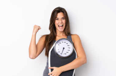 Kobieta, która szybko schudła z brzucha