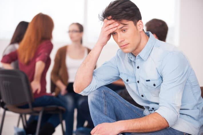 Alkoholik na terapii uzależnień
